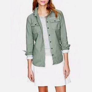J. Crew Olive Green Military Pocket Button Shirt 6